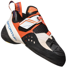 La Sportiva Solution Kiipeilykengät Naiset, white/lily orange